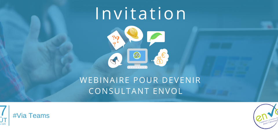 Invitation Webinaire consultant EnVol bannière